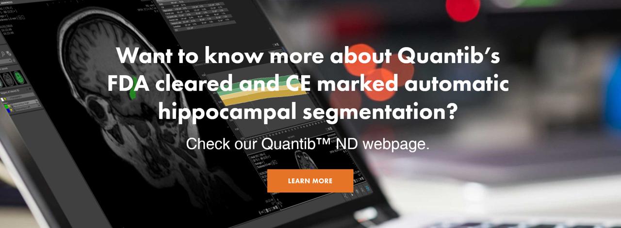 Hippocampus segmentation Quantib ND