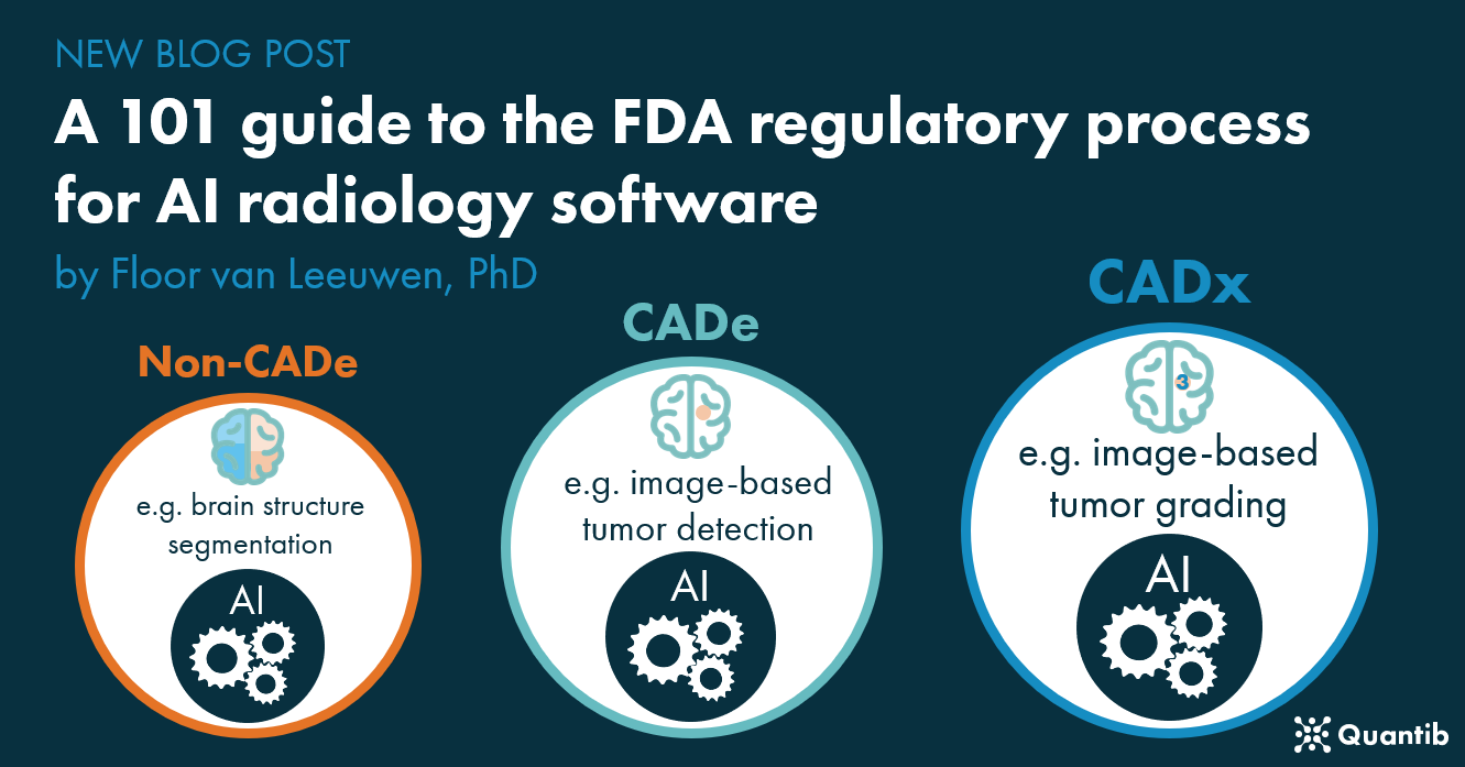 Infographic on artificial intelligence in CADe, CADx and non-CADe medical devices