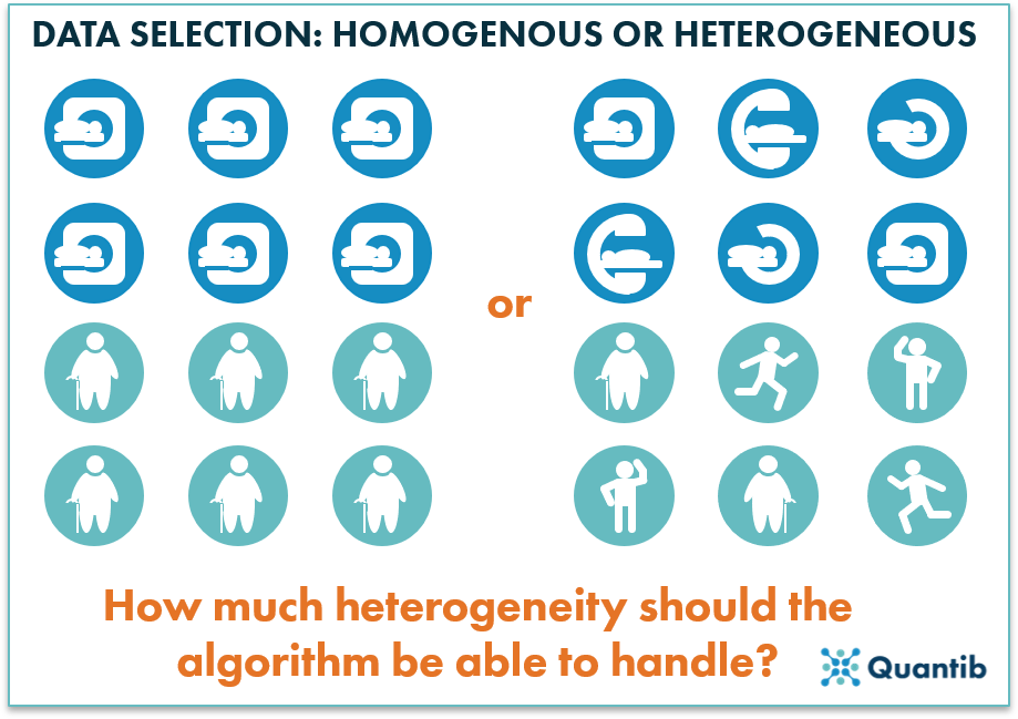 radiology ai dataset selection of heterogeneity