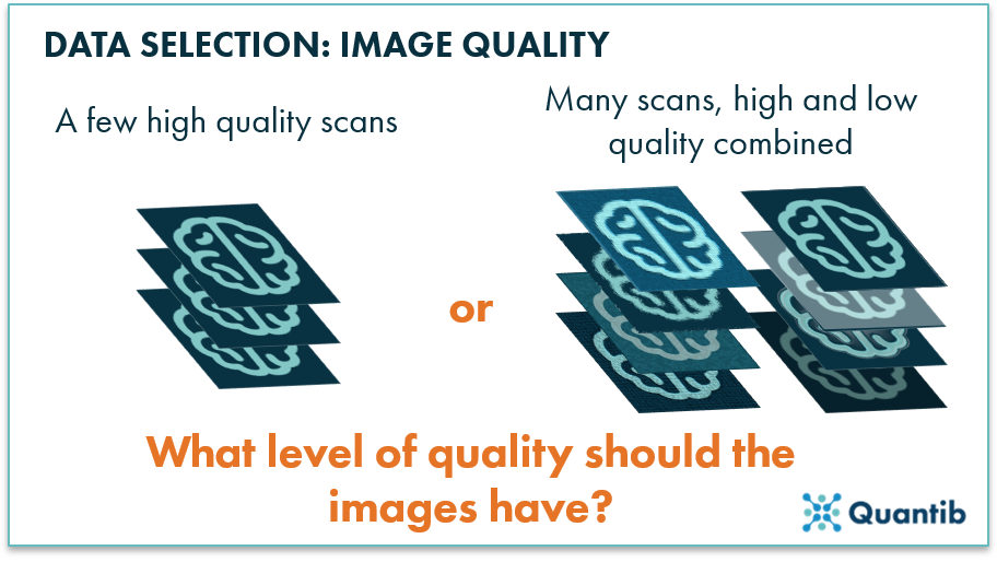 radiology ai algorithm input scan level of quality